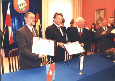 Podpisanie umowy partnerskiej pomiędzy Reńskim Powiatem Neuss i Powiatem Mikołowskim