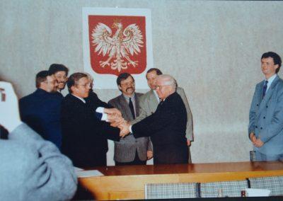 Spotkanie ZKPPM z Klausem-Dieterem Salomonem przewodniczącym Komitetu Partnerskiego Reńskiego Powiatu Neuss
